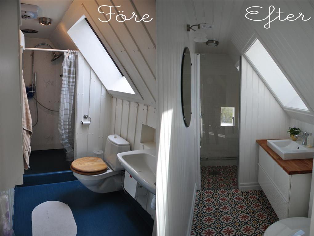 Vid bloggaren Camillas badrumsrenovering valde man att flytta toaletten och  nyttjar till på köpet ljusinsläppet från fönster i badrummet bättre. c3b1be88d3c14