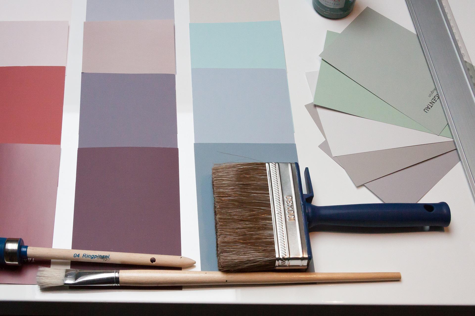 Anlita målare, timpris kostnad, målarfärg färgkartor