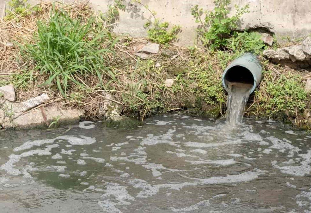 Dräneringsrör leder bort vatten