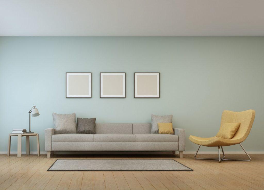 Ett vardagsrum som är modernt inrett